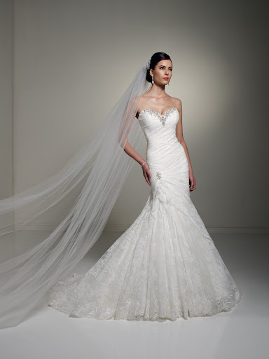 A beautiful, body-slimming Sophia Tolli gown.