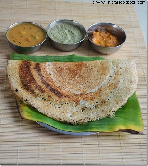 Oats barley dosa recipe