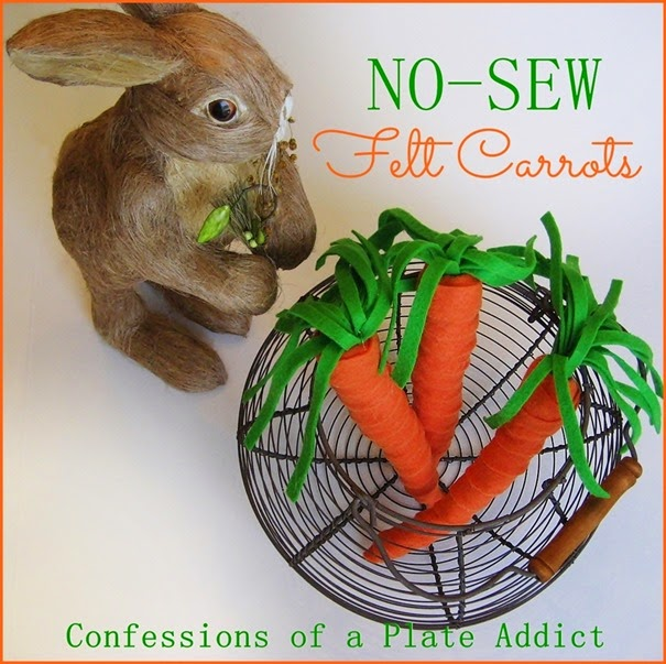 CONFESSIONS OF A PLATE ADDICT No-Sew Felt Carrots