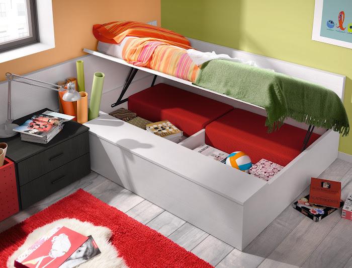 Tu hijo ha crecido pero los metros de su habitaci n no for Sofa cama para habitacion juvenil