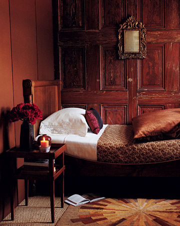 An equally rich paneled room. (marthastewart.com)