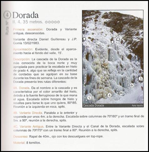 Bielsa - Boca Norte - La Dorada 35m WI4 (Libro)