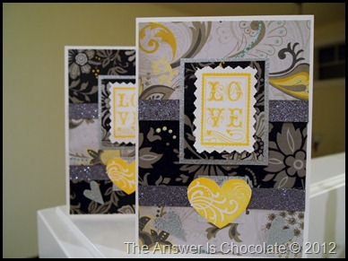 Gray, Black, Yellow Valentine