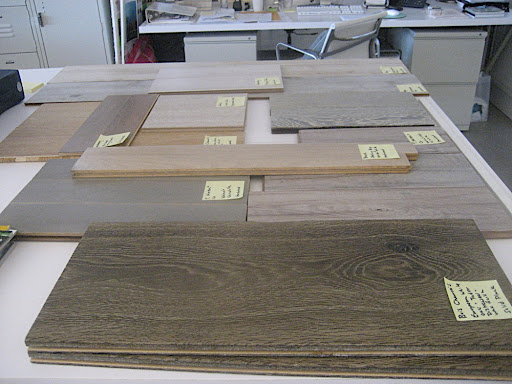 For my September column, I researched flooring samples that would achieve a similar look to my new floor finish.