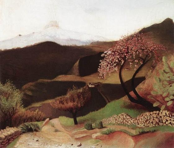 Blossoming Almonds (Landscape in Italy), 1901,Tivadar Kosztka Csontváry