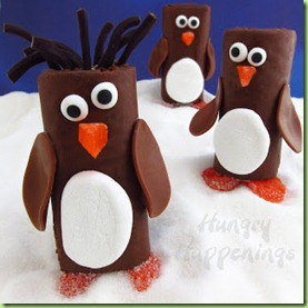 Penguin_Snack_Cakes,_chocolate_Little_Debbie_Swiss_Roll_Penguins,_Hostess_Ho_Ho_Penguins,_Christmas_edible_craft_recipes,_animal_party_treats_