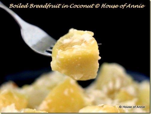 Boiled Breadfruit in Coconut