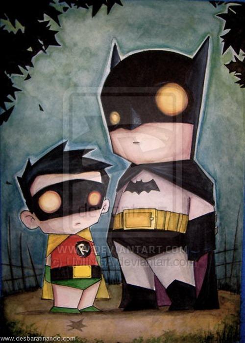 Batman e Robin desenhos arte uminga herois desbaratinando.jpg