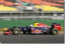 Vettel nelle prove libere del gran premio di Corea 2012