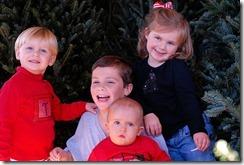 Corbitt kids at tree farm