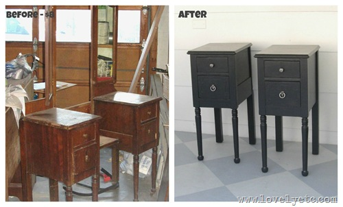 vanity nightstands before and after
