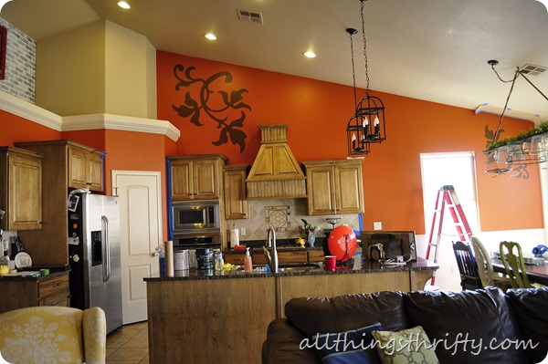 Orange Painted Kitchens blue kitchen {let the transformation begin!} | all things thrifty