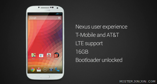 Samsung Galaxy S4 Google Nexus Edition