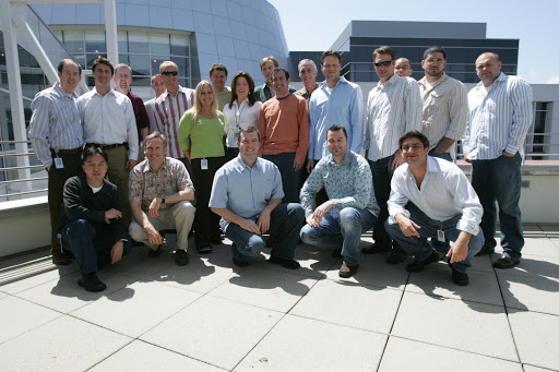 4/21/2005, Day 1 at Google for the Urchin Software team.  Where's Brett?