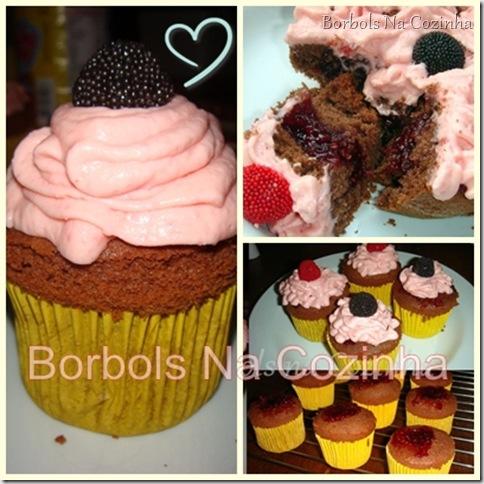 Cupcake de Chocolate e Framboesa