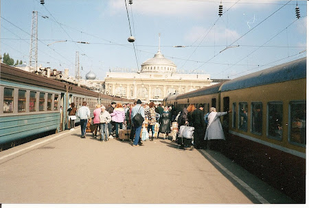 Ukraine: travel by train to Odessa