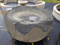 36X36 Basalt Bowl Fountain, Taller Corners, Bowl 2 Deep