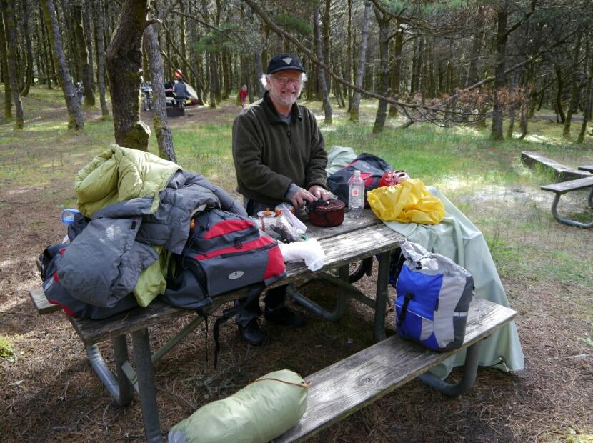 Dave packs his kit