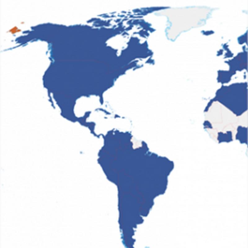 Mapa sobre la expansión de Facebook en el mundo