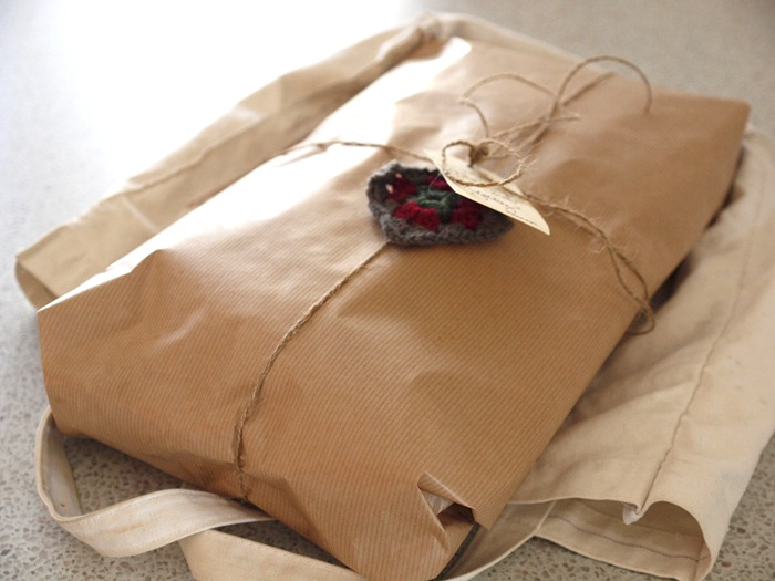 a brown paper package