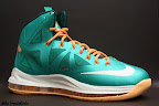 nike lebron 10 gr miami dolphins 4 01 Gallery: Nike LeBron X Miami Setting or Dolphins if you Like