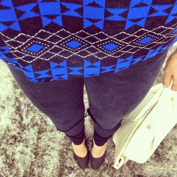 look blusa colcci e jeans black