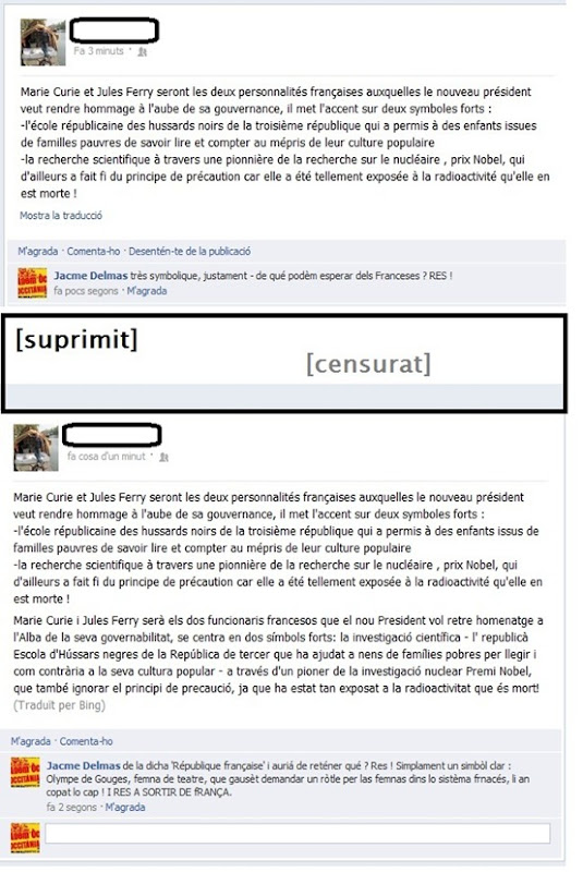 Las simbolicas republicanas francesas - censura - autre comentari