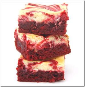 image and recipe from http://sweetpeaskitchen.com/2011/02/01/red-velvet-cheesecake-brownies/
