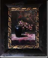Apple blossom framed