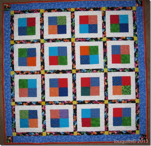 baby quilt for Isaac Neufeld Dec 2012