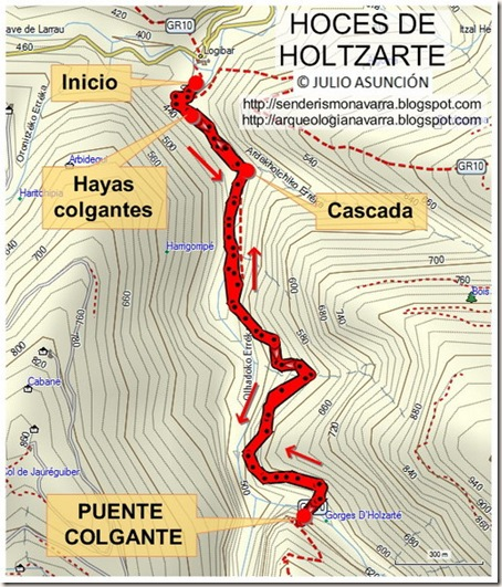 Mapa HOCES DE HOLTZARTE - Francia