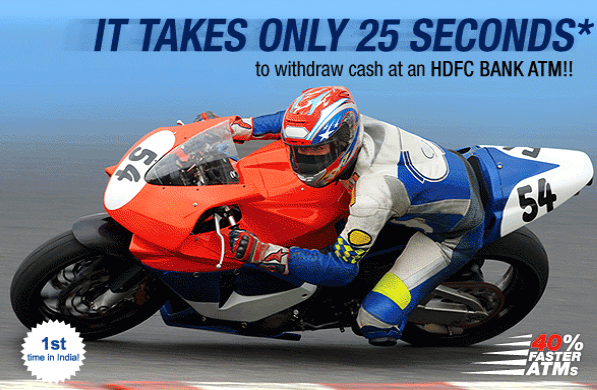 HDFC bank ATMs 40 times faster