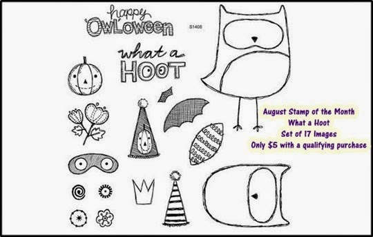 2014 - August SOTM - What A Hoot from Close to My Heart Owl Stamp set Happy Owloween!