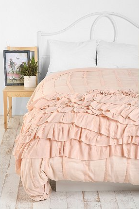 The billowing layers of this bedspread remind me of the texture of ice cream. (urbanoutfitters.com)