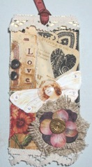 collaged fabric tag 1.2.2012