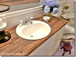Our Vintage Home Wood Vanity