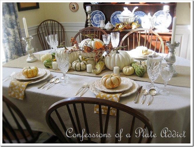 French Country Table Scape Thanksgiving