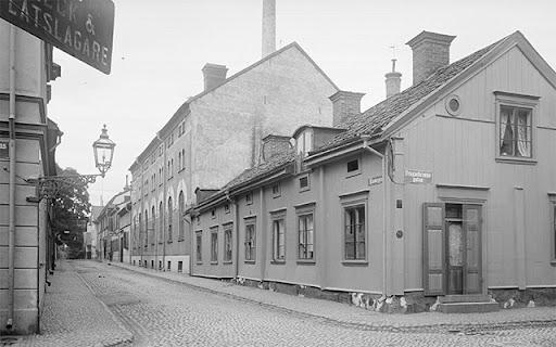 Bayerska bryggeriet korsningen Dragabrunnsgatan och Klostergatan 1902