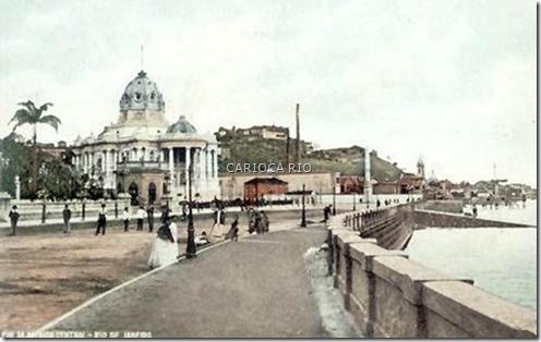 Av. Beira Mar – Centro - Início do Século XX olhando-se em direção ao Morro do Castelo
