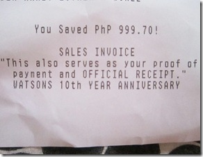 watsons savings, bitsandtreats