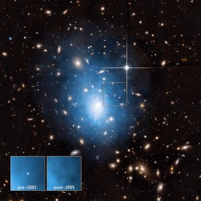 galáxia anã localizada no aglomerado Abell 1795