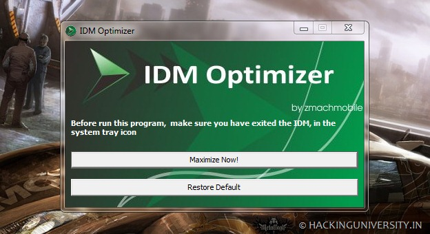 IDM Optimizer to boost IDM download speeds