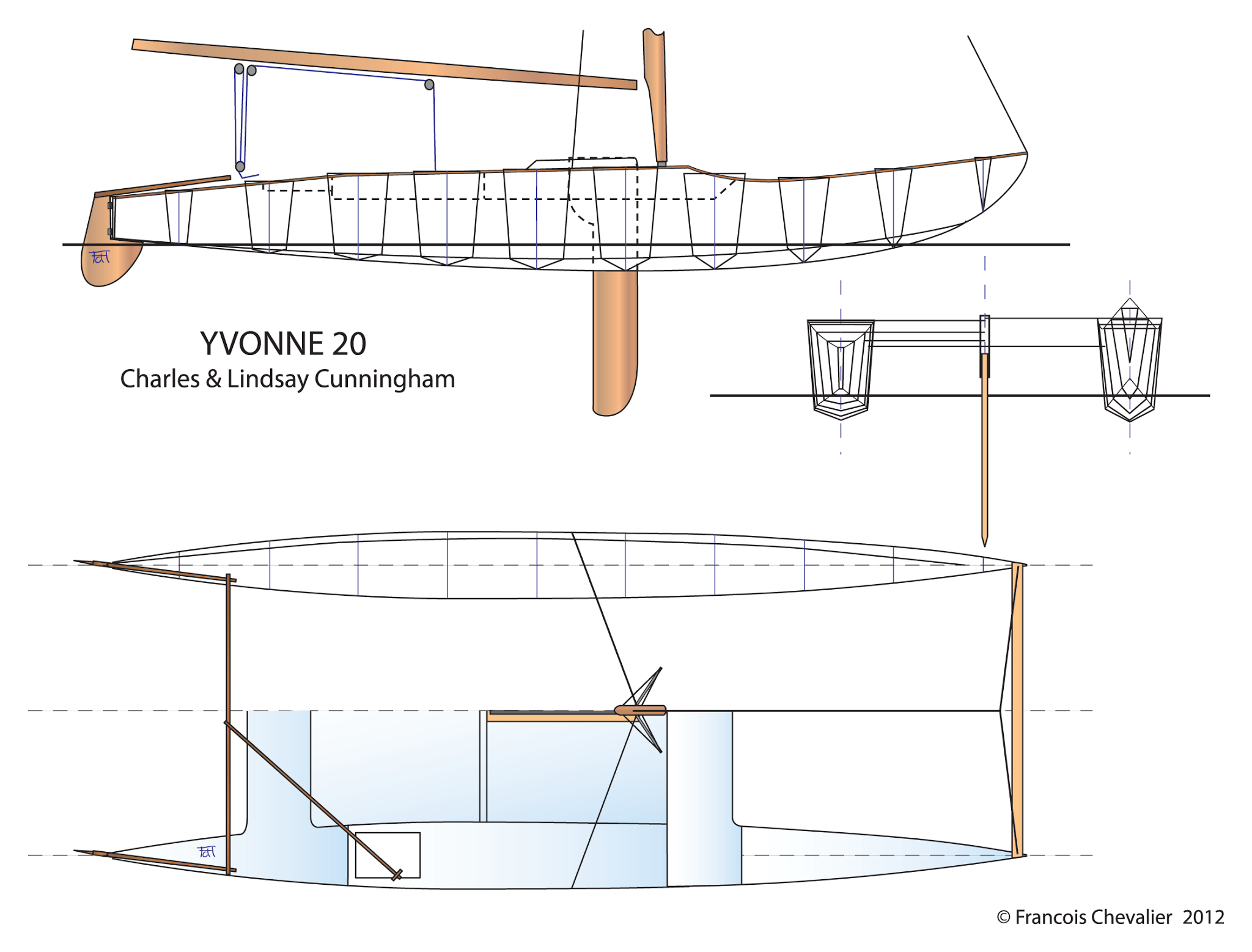 Amateur asymmetric spinnaker plans