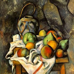 Paul Cezanne (1895): Ginger Jar and Fruit. The Barnes Foundation. Merion. Pennsylvania. Postimpresionismo