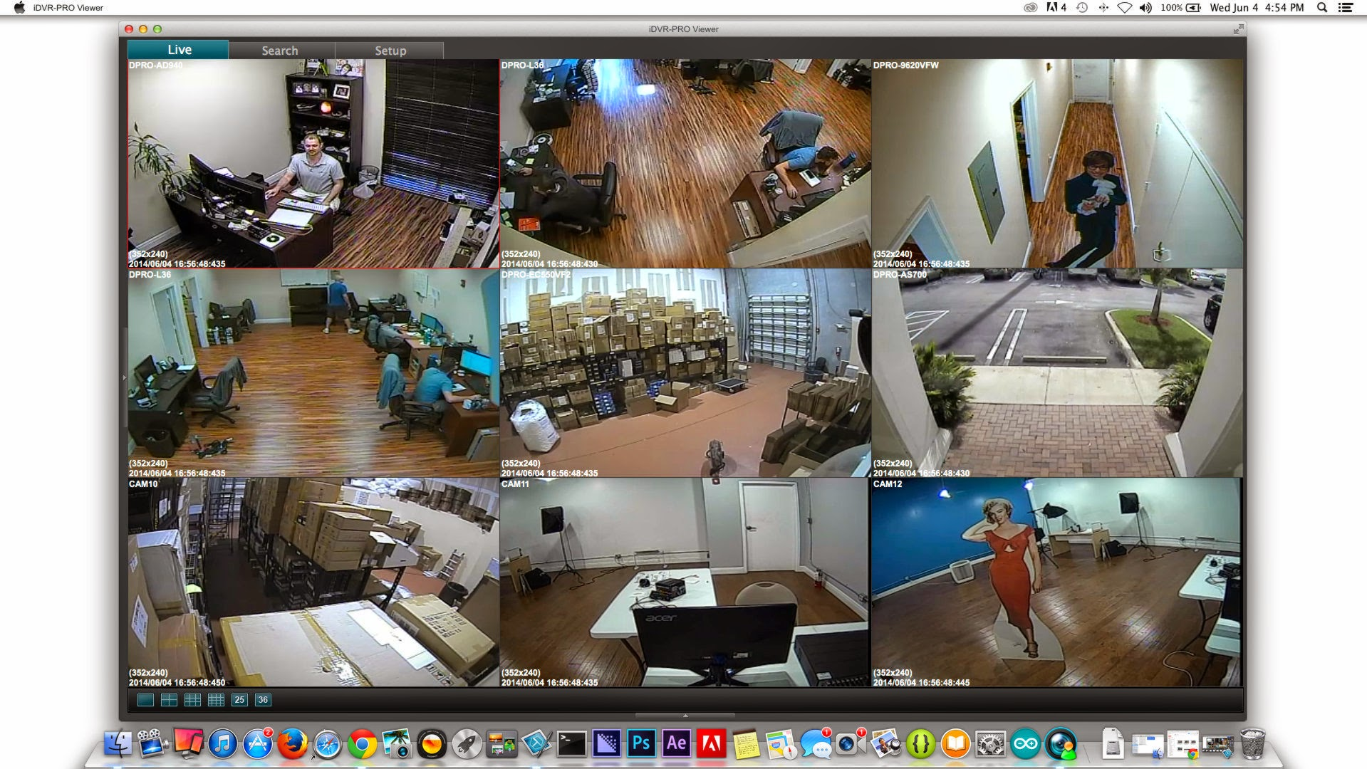 View CCTV Security Cameras from Mac Software with iDVR-PRO
