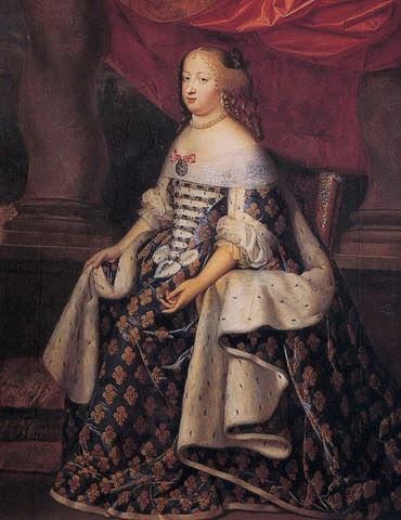 La infanta María Teresa de España, como reina de Francia