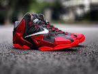 nike lebron 11 gr black red 3 01 New Photos // Nike LeBron XI Miami Heat (616175 001)