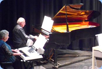 Barbara and Rob Powell - Barbara on the Yamaha Tyros 3 and Rob on the Grand Piano.