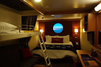 inside stateroom with a virtual porthole