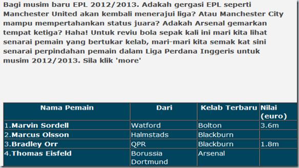 Senarai Perpindahan Pemain EPL musim 2012 2013   KISAH SEORANG HERO-135251